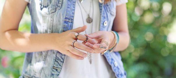 Como usar anel de falange?