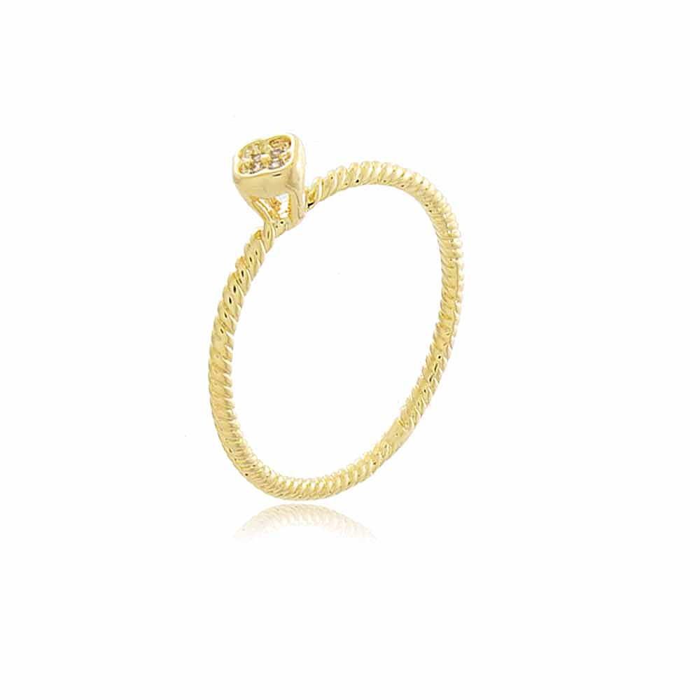 Anel Alexandria - banho de ouro amarelo