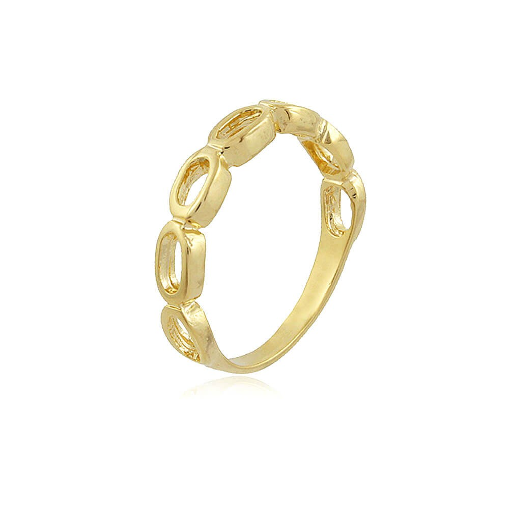 Anel Azaléia - banho de ouro amarelo