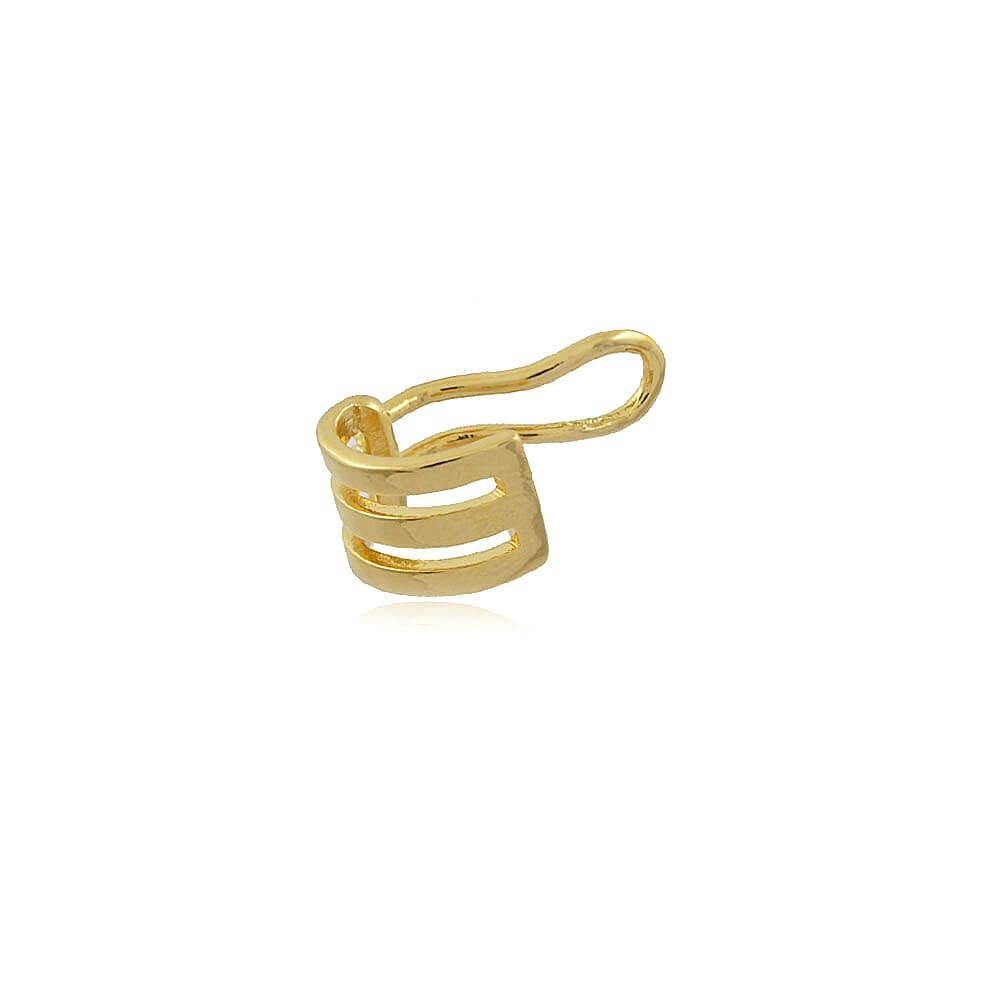 Brinco Piercing Fake - banho de ouro amarelo