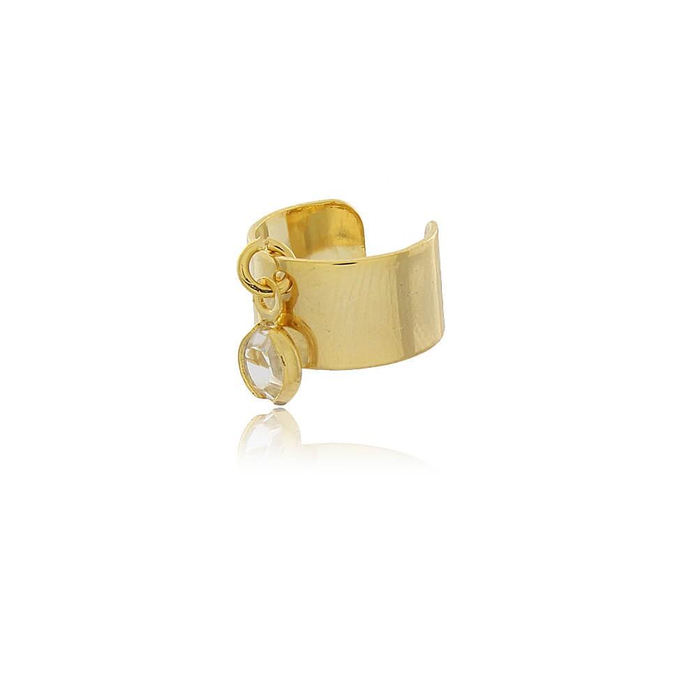 Brinco Piercing Fake Verona - banho de ouro amarelo - zircônia branca