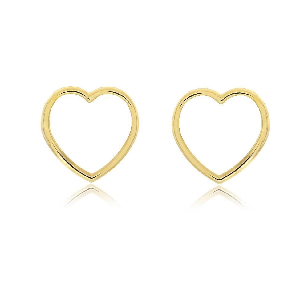 Brinco Coração Rimini - banho de ouro amarelo