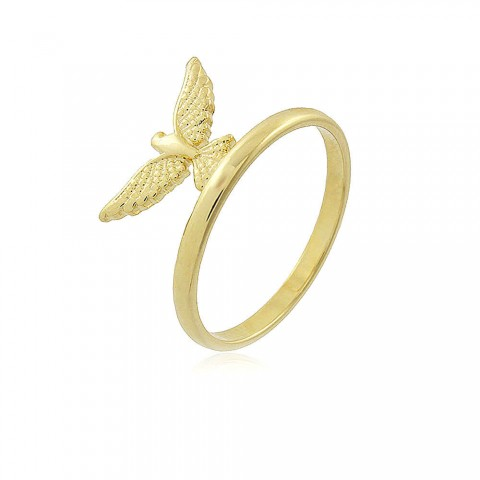 Anel Espírito Santo - banho de ouro amarelo