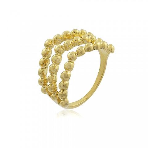 Anel Acordeona - banho de ouro amarelo