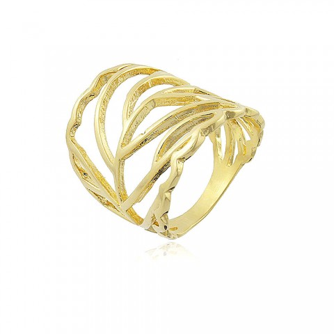 Anel Agogô - banho de ouro amarelo
