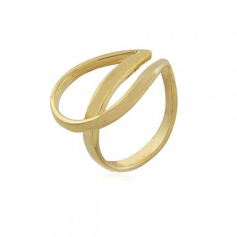 Anel Begônia - banho de ouro amarelo
