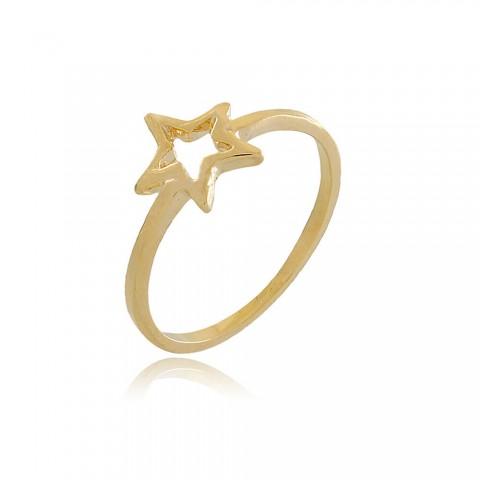 Anel Estrela Padua - banho de ouro amarelo