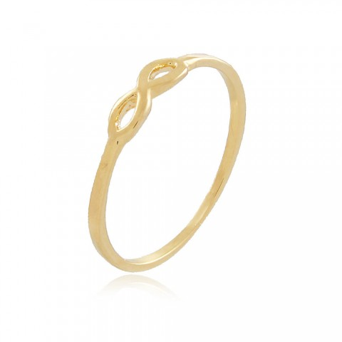 Anel Infinito Alpaca - banho de ouro amarelo