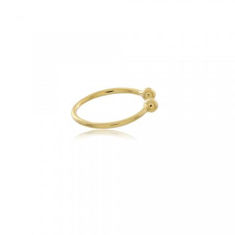 Brinco Piercing Fake Ravenna - banho de ouro amarelo