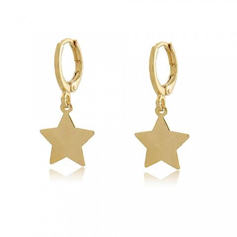 Brinco Argola Estrela Nazaré - banho de ouro amarelo