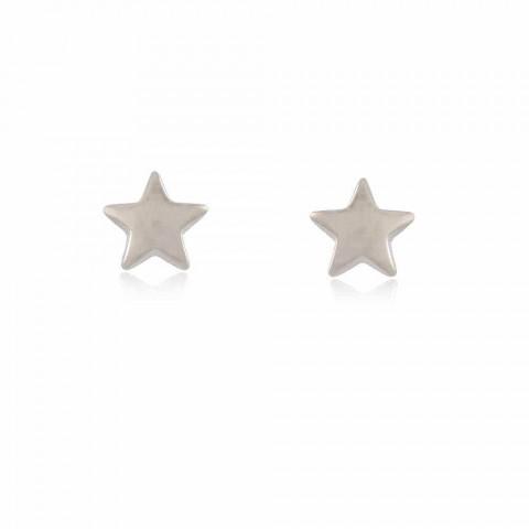 Brinco Estrela Sagui - banho de ródio
