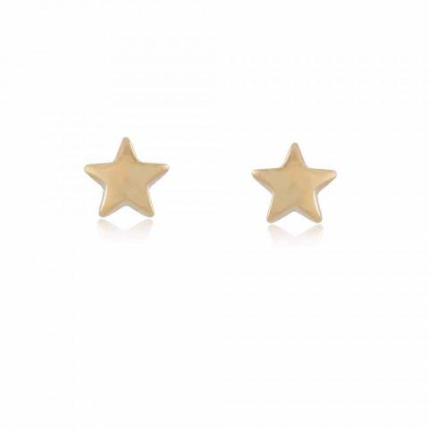 Brinco Estrela Sagui - banho de ouro amarelo