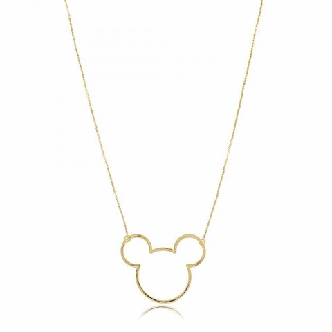 Colar Mickey - banho de ouro amarelo
