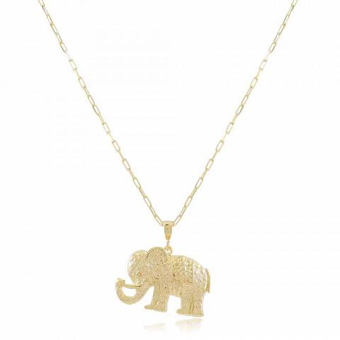 Colar Elefante - banho de ouro amarelo