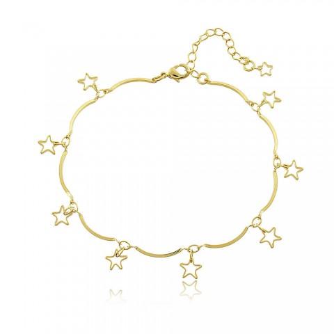 Pulseira Estrelas - banho de ouro amarelo