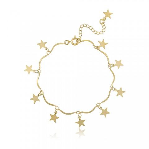 Pulseira Estrelas Saloá - banho de ouro amarelo